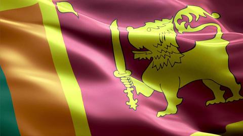 Flag Sri-Lanka Animation