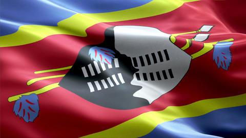 Flag Swaziland Animation