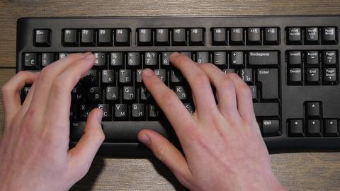Typing On Wireless Keyboard 4k Footage