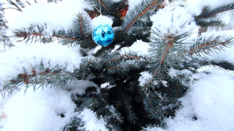 Video greetings. Christmas and New year with eco-friendly Christmas tree and rea Footage