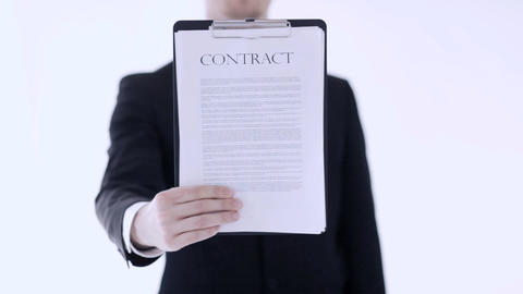 man showing a contract Footage