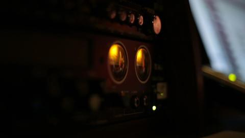 Sound studio equipment in action Live Action