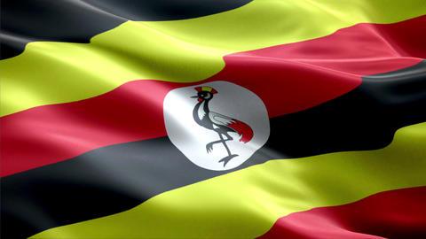 Flag Uganda Animation