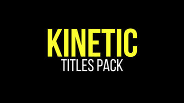 Kinetic Titles Premiere Pro Template