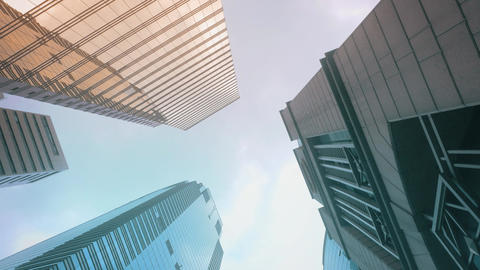 Skyscrapers View From Ground Footage
