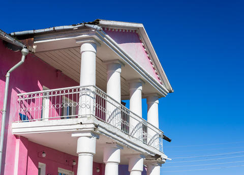 Balcony with columns. House of Culture, Russia フォト