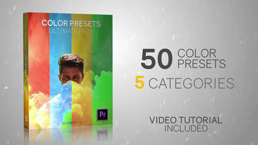 50 Color Presets - Ultimate Pack Premiere Proテンプレート