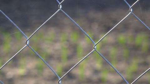 Mesh fence close up Footage