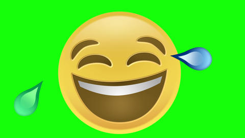 Laughing Emoji CG動画素材