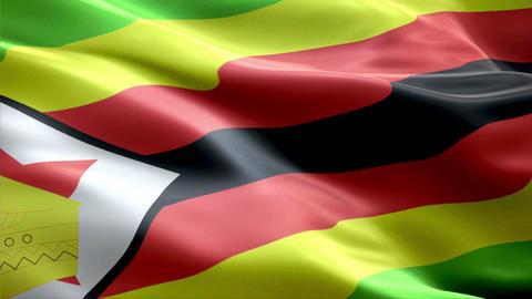 Flag Zimbabwe Animation