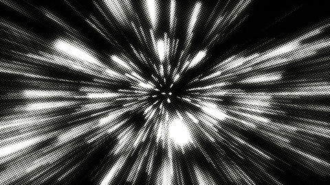 White Noise Grain Explosion On Black Background Animation