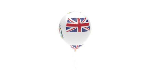 British Antarctic Territory Balloon Rotating Flag Animation - Alpha Channel - Tr Animation