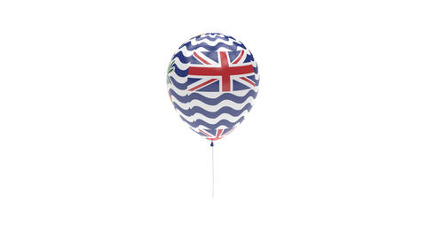 British Indian Ocean Territory Balloon Rotating Flag Animation - Alpha Channel - Animation