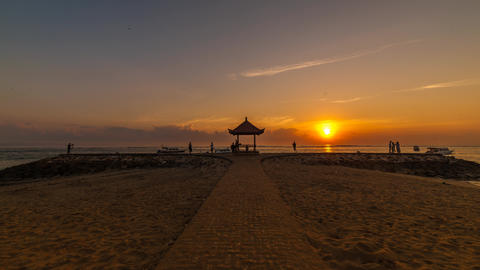 Sunrise Timelapse At A Beach In Bali, Indonesia stock footage