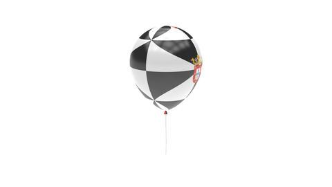 Ceuta Balloon Rotating Flag Animation - Alpha Channel - Transparent Animation