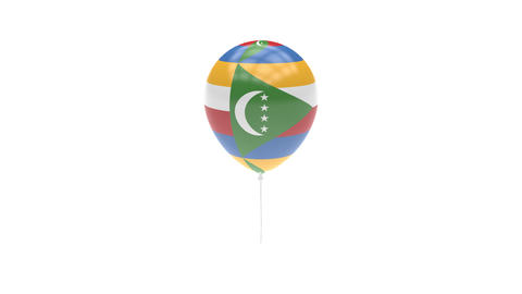 Comoros Balloon Rotating Flag Animation - Alpha Channel - Transparent Animation