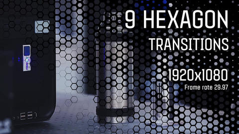 Hexagon Transitions vol 1 After Effects Template