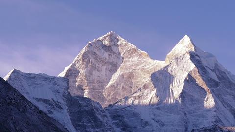 Kangtega Peak Sunrise Himalayas Mountains 4k Footage