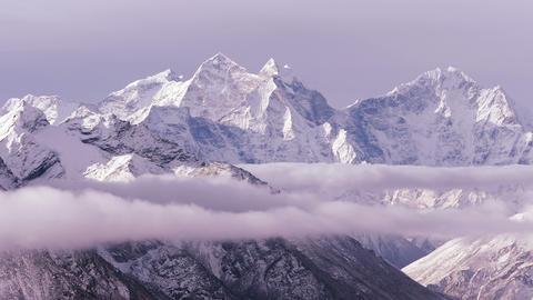 Kangtega Peak Sunrise Himalayas Mountains Time Lapse 4k Footage