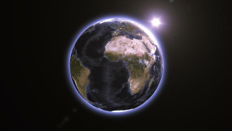Glowing Rotating Earth Animation