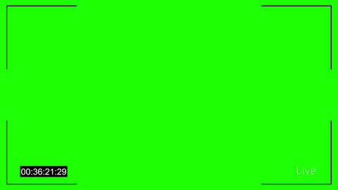 Cctv Live and timecode chroma key Animation