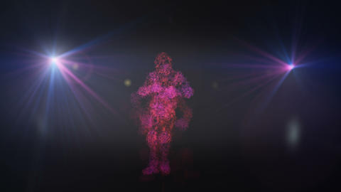 Abstract person dancing in a loop Footage