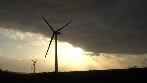 風力発電の風車 ビデオ