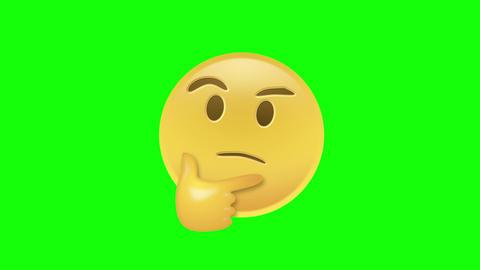 Thinking Emoji Stock Video Footage