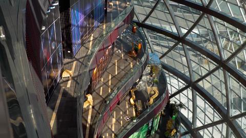 Inside Globe building Live Action