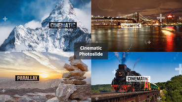 Cinematic photoslide After Effects Template