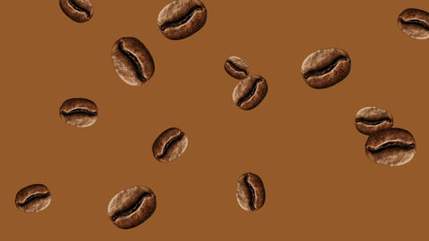 Abstract colorful coffee beans animation Animation