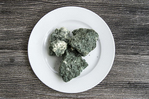 moldy cheese, green moldy cheese, herbed cheese moldy Turkey フォト