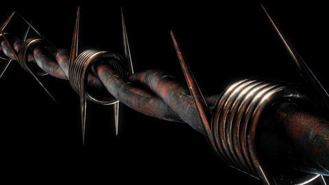 Barbed Fence VJ Loop Animación