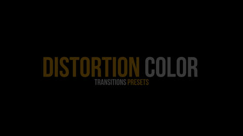 Distortion Color Transitions Presets Premiere Pro Template