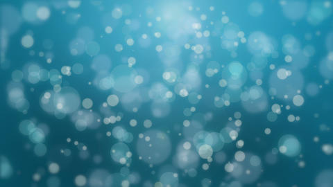 Beautiful turquoise blue bokeh background Animation