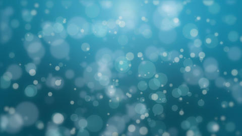 Beautiful turquoise blue bokeh background Stock Video Footage