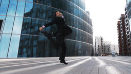 Businessman jumping for joy 영상물