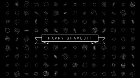 Shavuot holiday flat design animation background with… Stock Video Footage