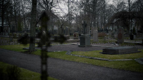 Old Cemetery Cross Footage