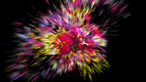 Exploding colorful flowers in 4K Animation