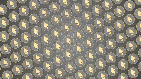 Ethereum cryptocurrency grey background coins pattern traffic diagonal Animación