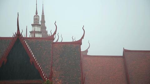 Flood after Monsoon Season Rain in Phnom Penh, Cambodia Footage