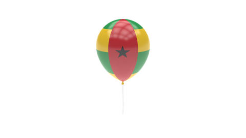 Guinea Bissau Balloon Rotating Flag Animation - Alpha Channel - Transparent Animation