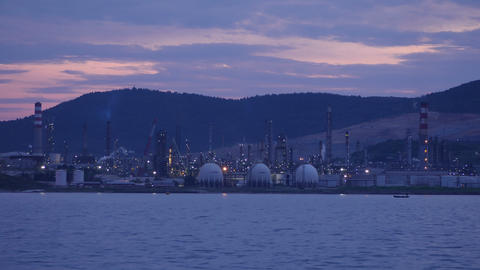 aliaga oil refinery, petrochemical petrol plant, izmir, turkey, timelapse Live Action