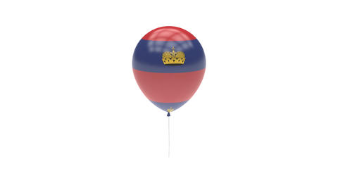 Liechtenstein Balloon Rotating Flag Animation - Alpha Channel - Transparent Animation