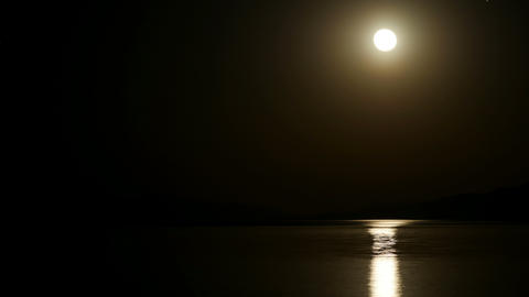 Moon rise timelapse at night Footage