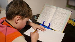 School Boy Doing Homework 4k Live Action