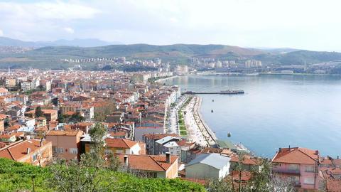 landscape of Gemlik city, Bursa, Turkey Footage
