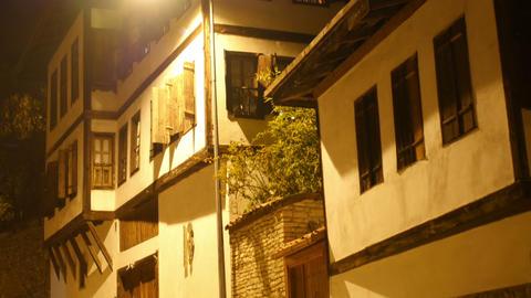 Night View of Traditional Ottoman Anatolian Village, Safranbolu, Turkey Footage