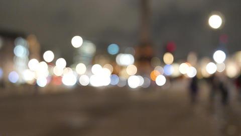 London Trafalgar square out of focus night traffic Footage